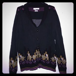 UO Men's Knit Cardigan with Pattern